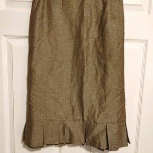 NWT Tahari brown ruffle hem skirt